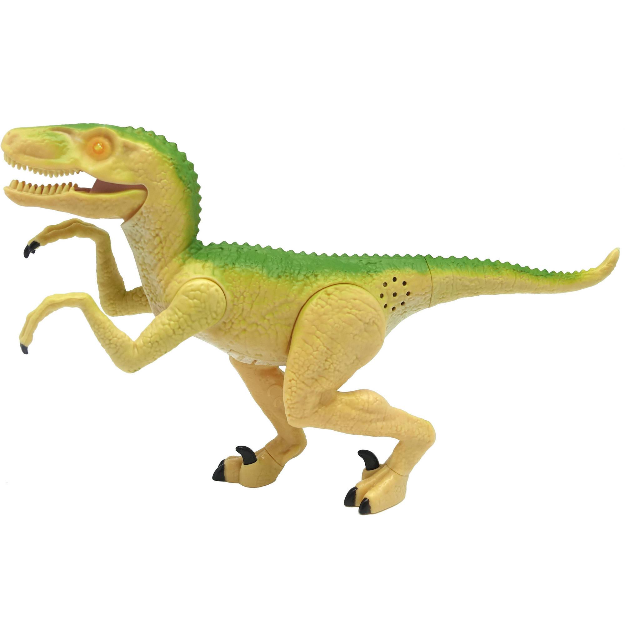 "Image of Adventure Force 8"" Mini Mighty Megasaur, Velociraptor, Yellow"