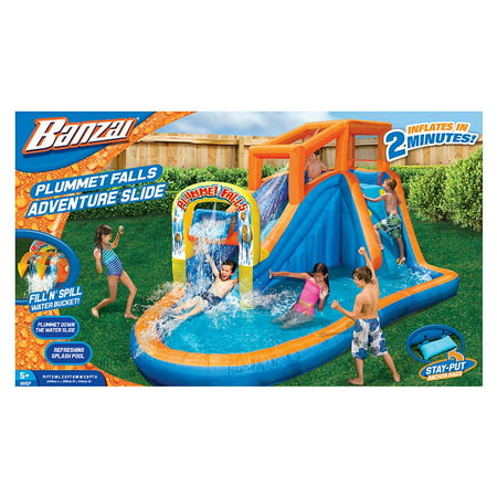 Banzai aqua drench 3 in 1 inflatable splash park this rather