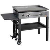"""Blackstone 2-Burner 28"""" Griddle Cooking Station with Stainless Steel"""