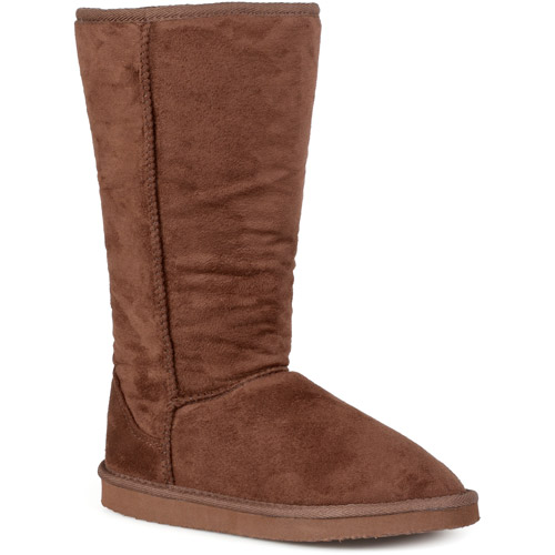 Brinley Co Ladies 12 Inch Faux Suede Boot by