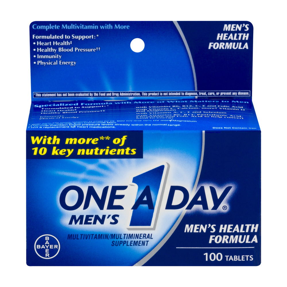 One a Day Men's Health Multivitamin/Multimineral Supplement, 100 count