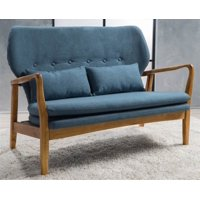 Loveseat with Pillows in Blue