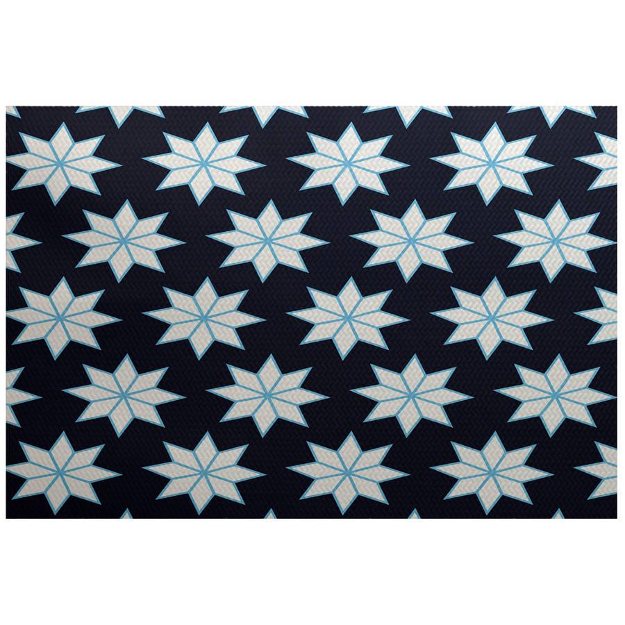 Simply Daisy 2' x 3' Christmas Stars 1 Geometric Print Indoor Rug