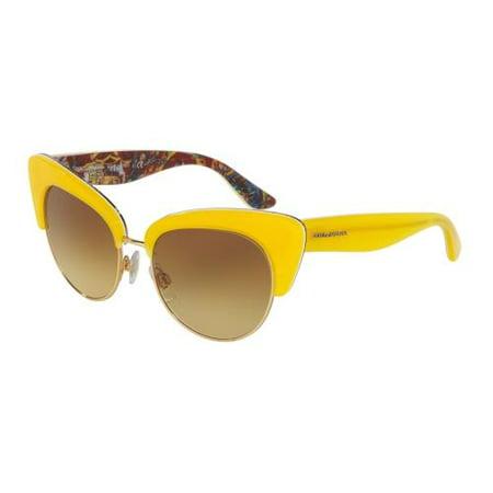 DOLCE & GABBANA Sunglasses DG 4277 30352L Top Yellow/ Handcart (Top 10 Sunglasses Brands For Women)