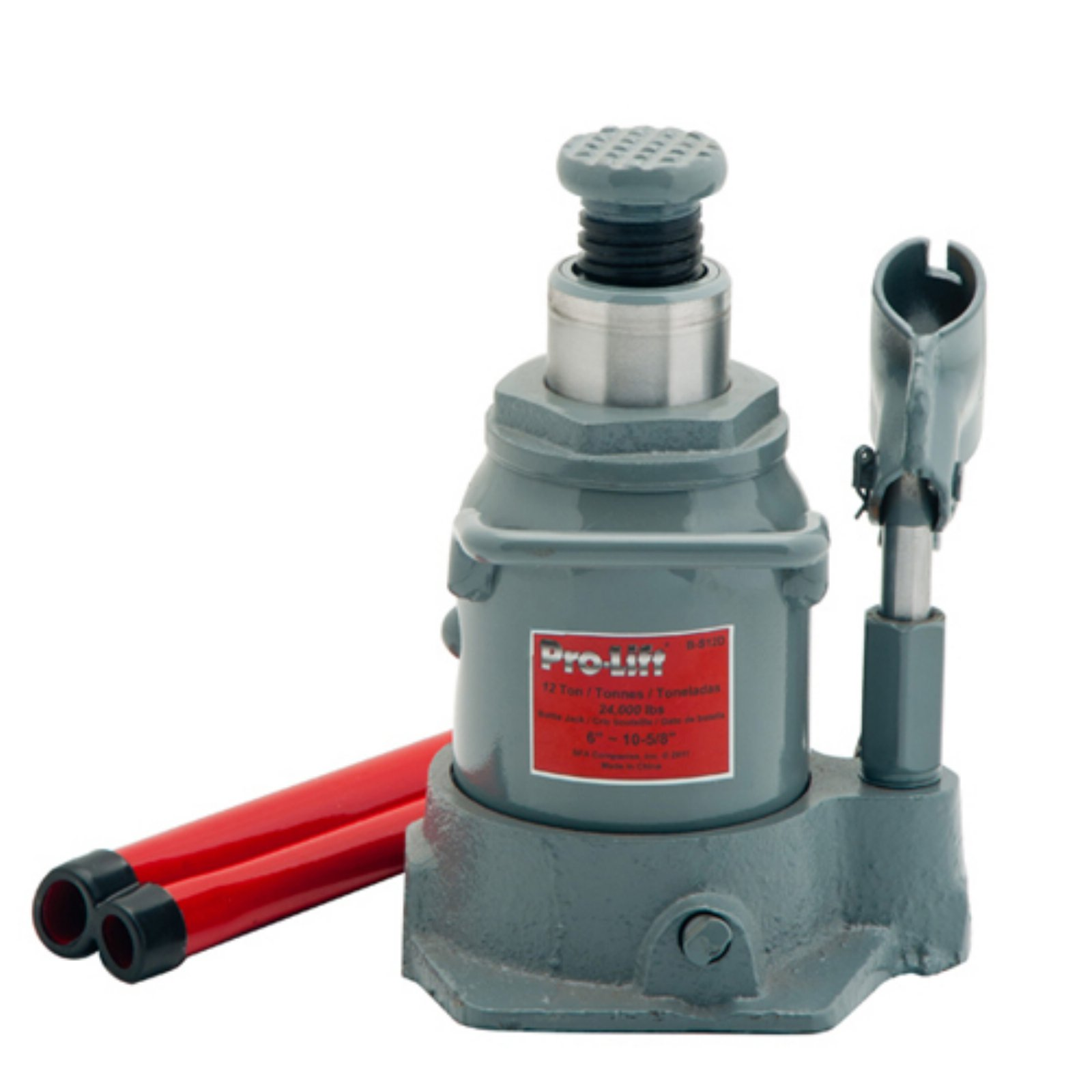 Pro-Lift B-S20D Grey Hydraulic Bottle Jack, 20 Ton Capacity