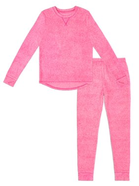 Climate Right Girls Stretch Fleece Thermal Underwear Set, (Little Girls & Big Girls)