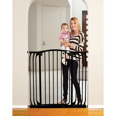 Dreambaby Chelsea Tall Auto Close Stay Open Security Gate, Black ()