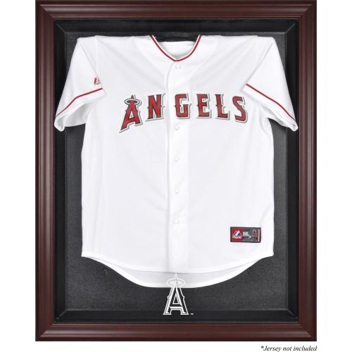 Los Angeles Angels Fanatics Authentic Mahogany Framed Logo Jersey Display Case - No Size