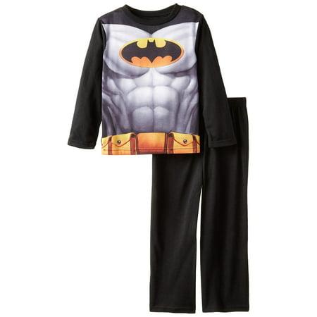 DC Comics Boys' Batman Costume with Cape Pajama Set, Black, Size: 7/8