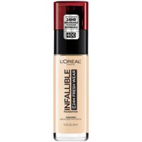L'Oreal Paris Infallible 24 Hour Fresh Wear Foundation, Lightweight, Pearl, 1 oz.