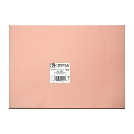 "Kunin 9"" x 12"" Baby Pink Felt Sheet, 24 Count"