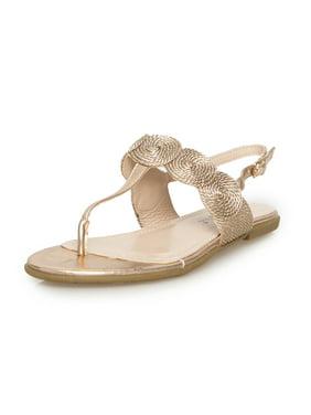 Rose Gold Rosegold Joules Women/'s Flip Flops Luxe Pink