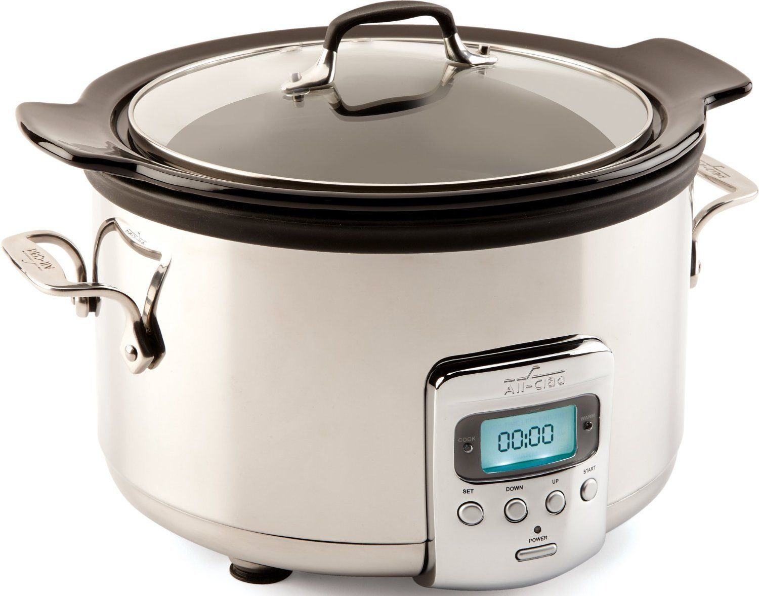 All-Clad SD710851 Slow Cooker with Black Ceramic Insert & glass lid 4 quart by All-Clad