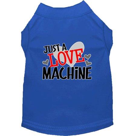 Mirage Pet 51-441 BLMD Love Machine Screen Print Dog Shirt, Blue - Medium Medium Blue Machine