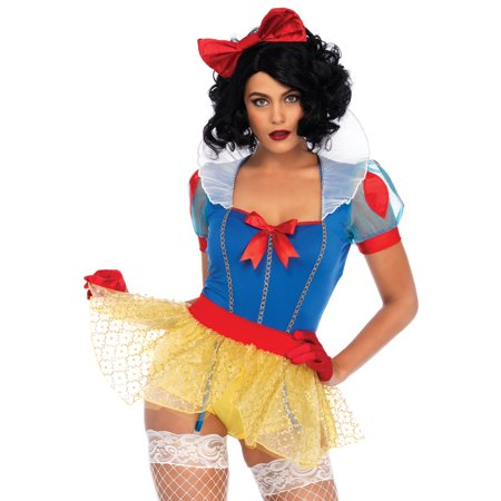 Leg Avenue Women's Sexy Miss Snow White Halloween Costume - Snow White Woman Costume