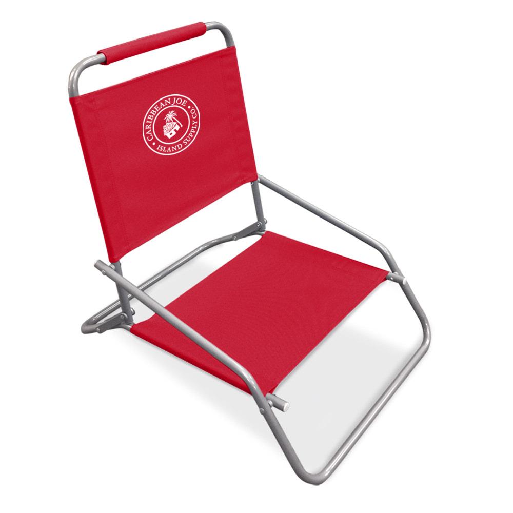 Caribbean Joe one position folding beach chair