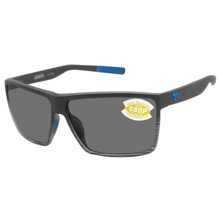 Costa Del Mar Rincon Grey 580P Rectangular Sunglasses RIN 179 (Costa Howler 580p)