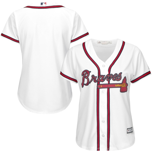 Atlanta Braves Majestic Women's Cool Base Jersey - White
