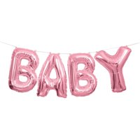 """Baby"" Letter Balloon Banner Kit, Blue, 14in"