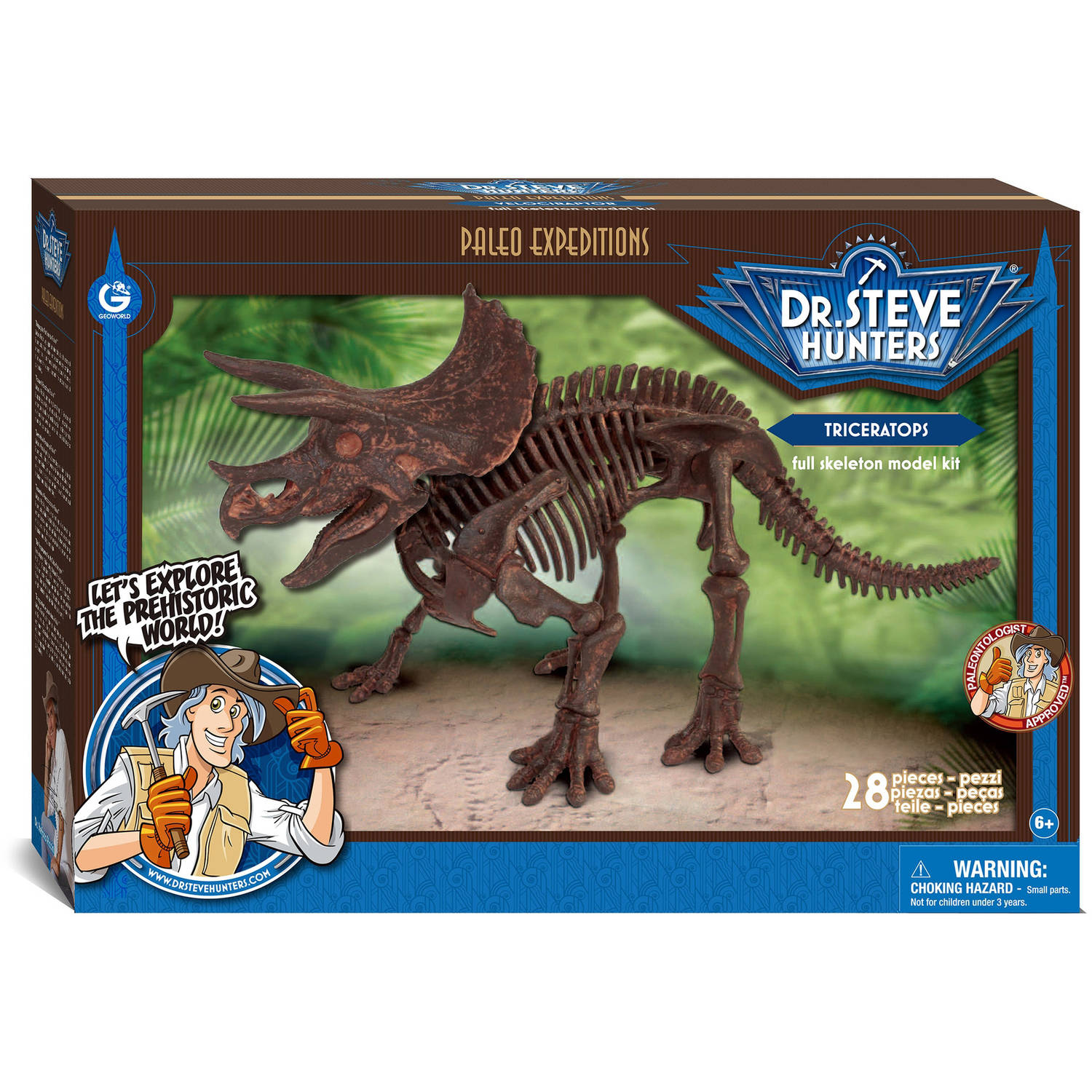Geoworld Dr. Steve Hunters Paleo Expeditions Kit, Triceratops