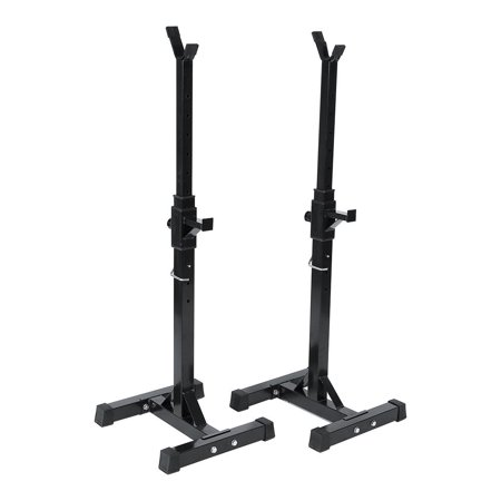 HERCHR Adjustable Barbell Stand Multifunction Squat Rack Home Gym Weight Lifting Press Gym Family Fitness Squat Rack Weight Lifting Bench Press Dipping Station with Barbell Plate