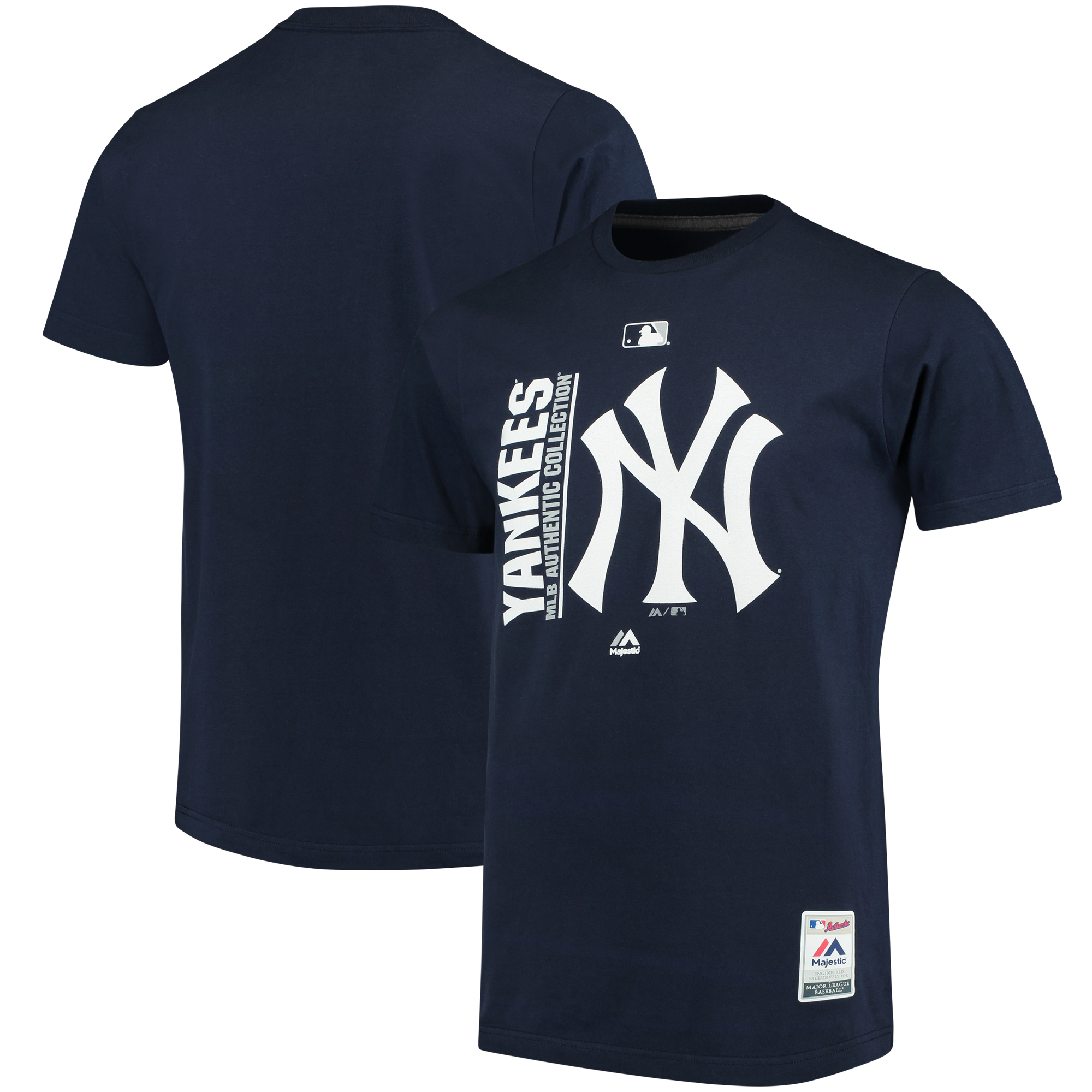 New York Yankees Majestic Authentic Collection Team Icon T-Shirt - Navy