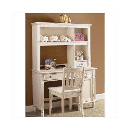 liberty furniture daydreams youth bedroom student desk with hutch in antique white. Black Bedroom Furniture Sets. Home Design Ideas
