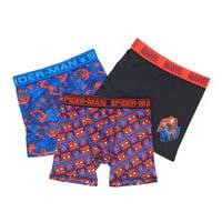 Marvel Spider-Man, Boys Underwear, 3 Pack Athletic Boxer Briefs (Big Boys)