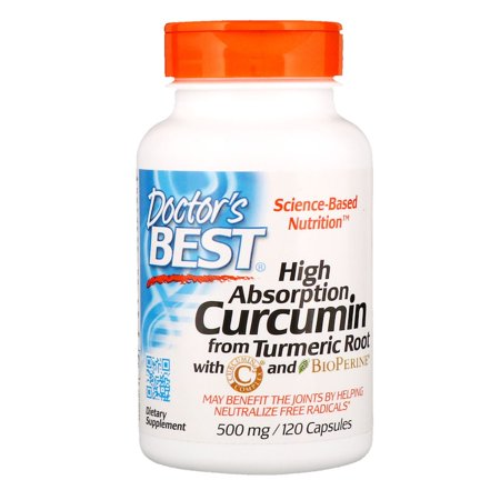 Doctor's Best, Curcumin, High Absorption, 500 mg, 120 Capsules(pack of