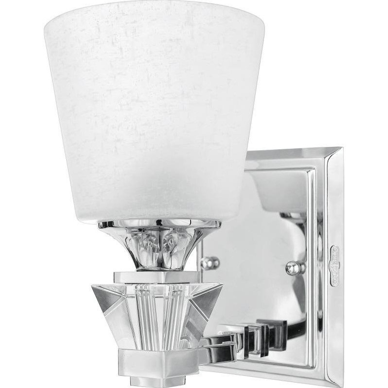 Quoizel Deluxe Bath Fixture with 1 Light in Polished Chrome