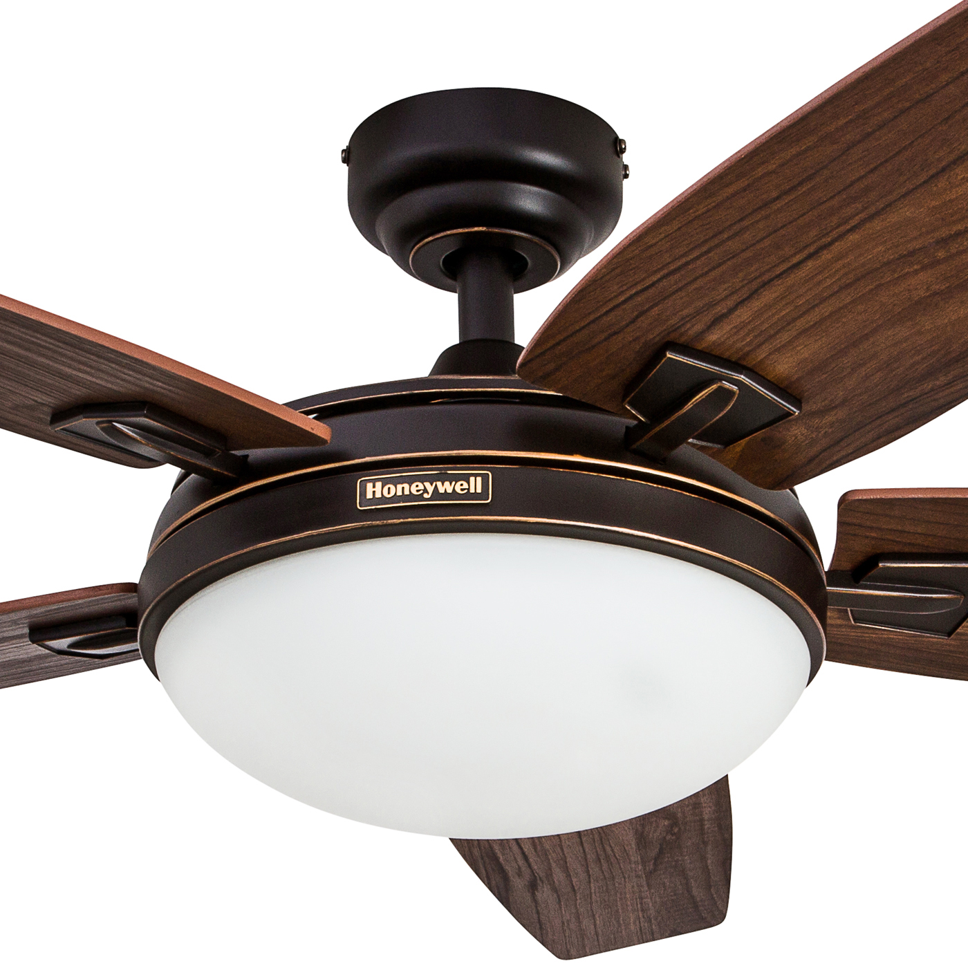 Contemporary And Modern Honeywell Ceiling Fan Designed For The Home In Mind 48 Carmel Brushed Nickel With Integrated