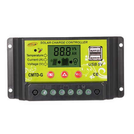 20A /24V Multi-functional PWM Solar Charge Controller with LCD Display Auto Regulator Solar Panel Battery Lamp Overload Protection