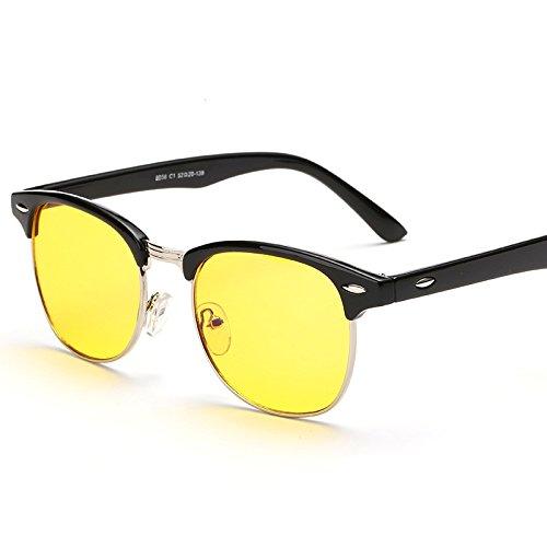 Cyxus Semi-Rimless Yellow Lens Computer Glasses Blocking Blue Light UV Anti Eye Strain Reading Eyewear