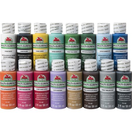 Apple Barrel Multi-Surface Paint Set, 16 Piece (2-Ounce), PROMOABMS1 Best Selling Colors
