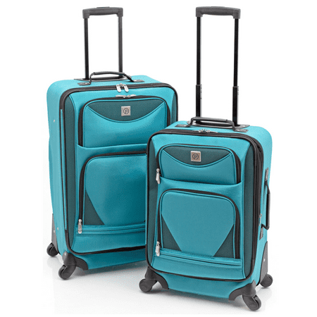Protege 2-Piece Expandable Spinner Set Luggage (Best 2 Piece Carry On Luggage Sets)