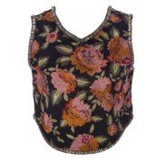 Haute Hippie Women's Floral Crop Top Multicoloured Small