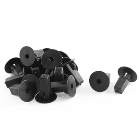 - 20 Pcs Black Plastic Fender Body Door Moulding Rivet for