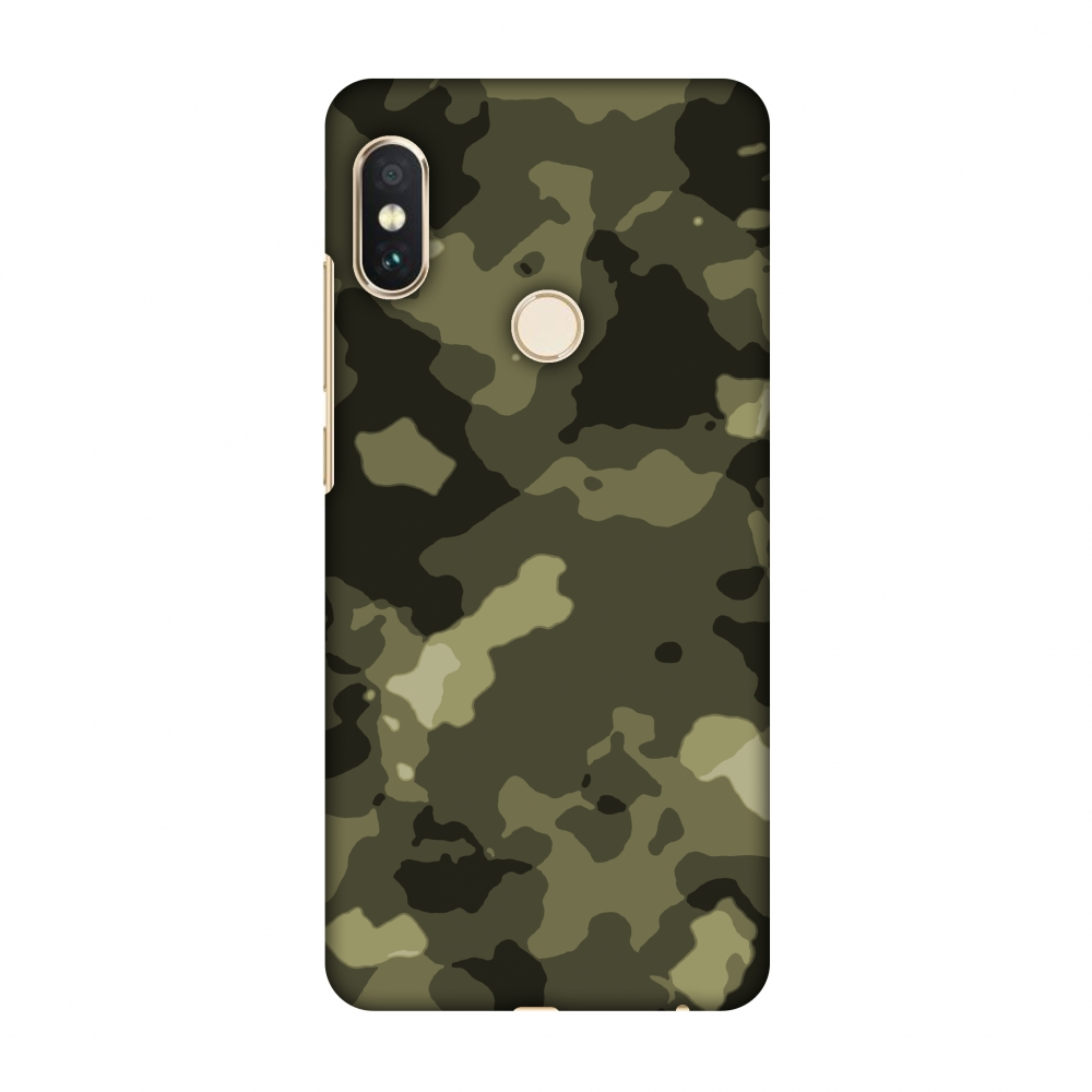 Xiaomi Redmi Note 5 Pro Case - Camou- Antique bronze, Hard Plastic Back Cover, Slim Profile Cute Printed Designer Snap on Case with Screen Cleaning Kit
