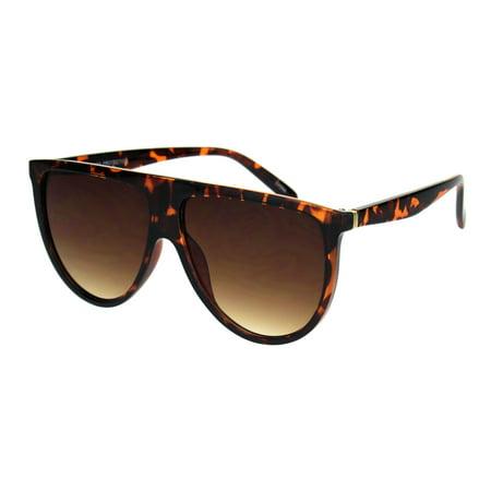 Mens Flat Top Mobster Oversize Plastic Retro Sunglasses Tortoise (Mens Flat Top Sunglasses)