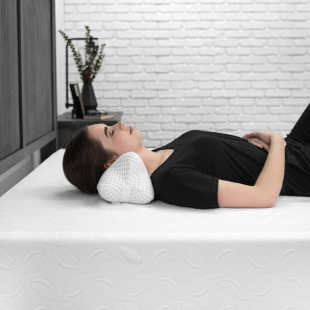 Biopedic Supportive Memory Foam Bone-Shaped Knee Pillow With Adjustable Strap