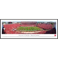 Nebraska Cornhuskers Football - 50 Yard Line - Blakeway Panoramas College Print with Standard Frame