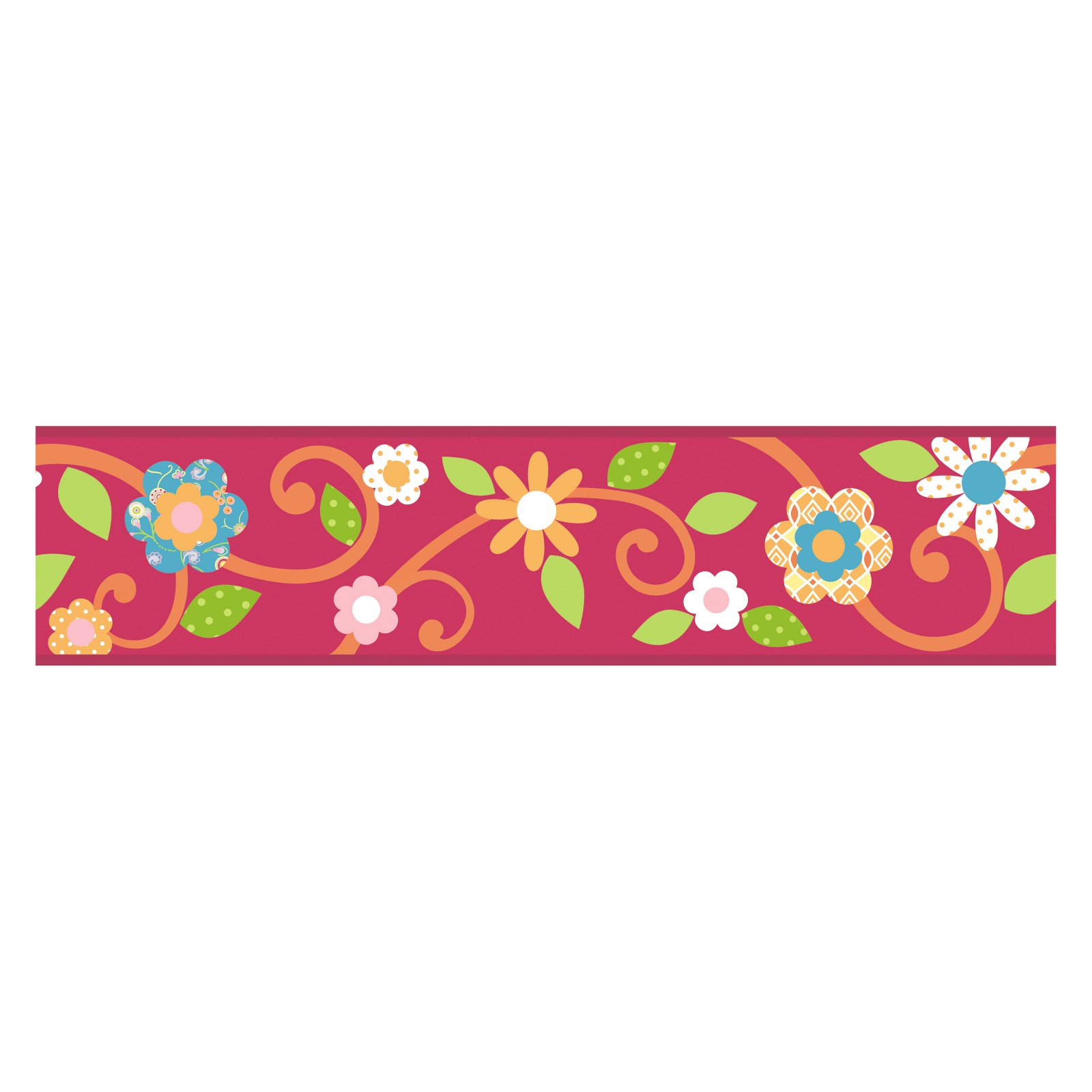 Scroll Floral Peel and Stick Border