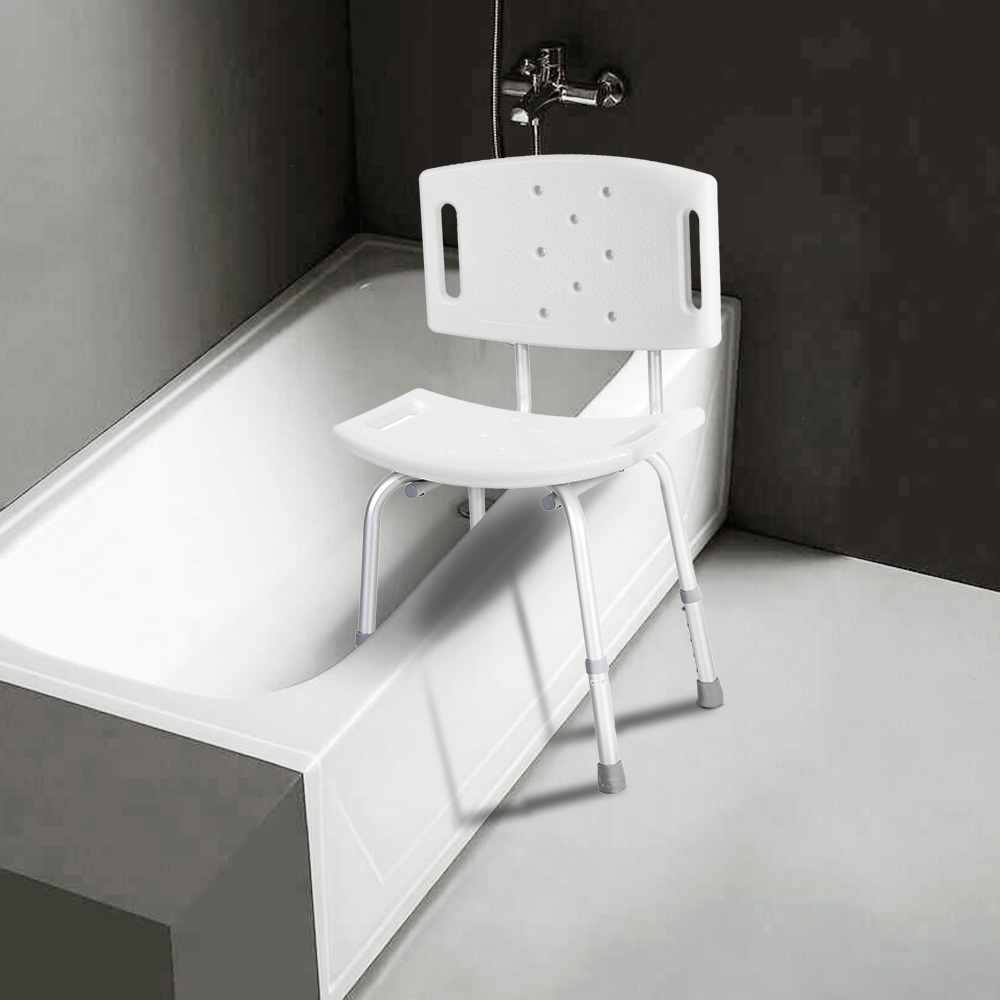 Anself Adjustable Shower Chair Seat Medical Bathroom Bath Tub ...