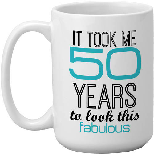 Personalized It Took This Long Birthday Coffee Mug, 15 oz - Available in Red and Teal