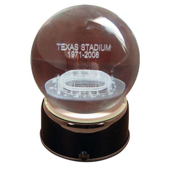 Paragon Innovations TexasStadiumLES Texas Stadium stadium sub-surface etched in a lit  musical and turning crystal ball