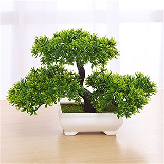 Mini Creative Bonsai Tree Artificial Plant Decoration Not Faded No Watering Potted for Office (100 Year Old Bonsai Trees For Sale)