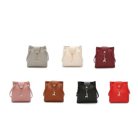 DeerWomen Handbag Solid Color Shoulder Bag Storage Bag with Adjustable Strap - image 5 de 8