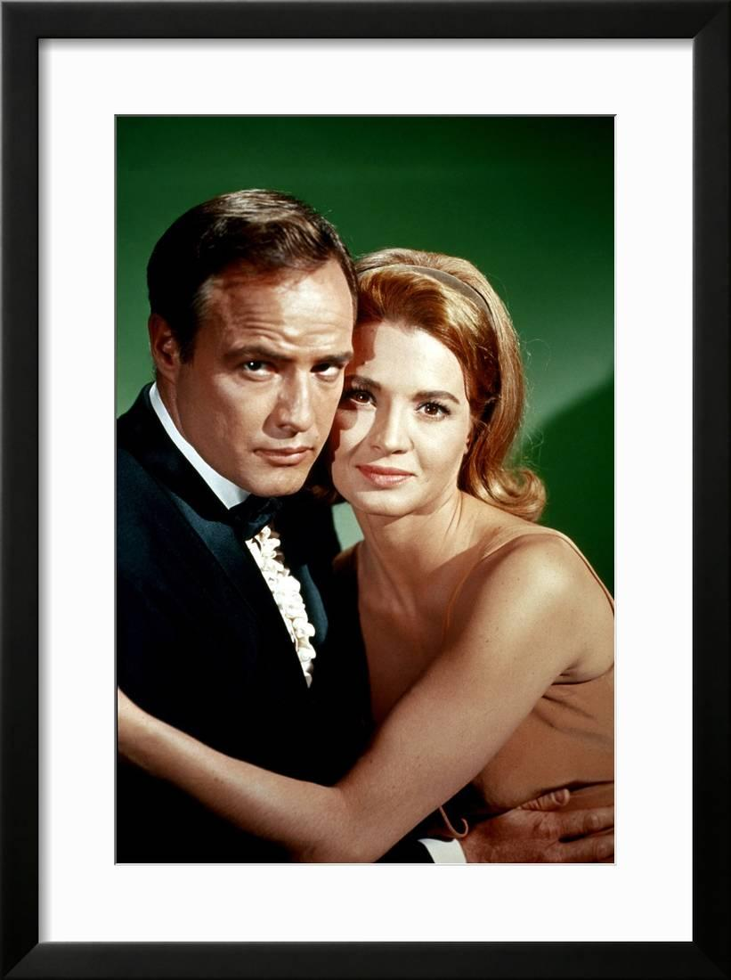 Angie Dickinson Oops la poursuite impitoyable the chase d'arthurpenn with marlon brando and  angie dickinson, 1966 (photo framed print wall art