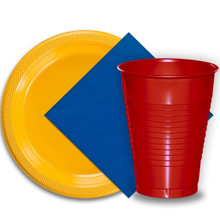50 Yellow Plastic Plates (9