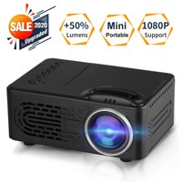 TSV Mini Projector, Portable Pico Full Color LED LCD Video Projector for Children Present, Video TV Movie, Party Game, Outdoor Entertainment with HDMI USB AV Interfaces and Remote Control